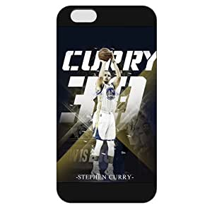 UniqueBox - Customized Black Frosted iPhone 6 Case, NBA Golden State Warriors Superstar Stephen Curry iPhone 6 Case, Only Fit iPhone 6 Case