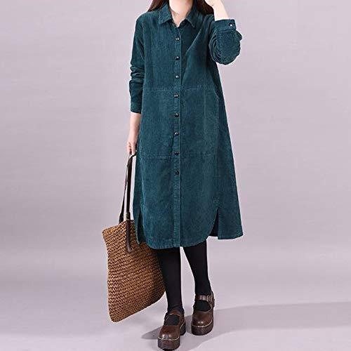 Velluto Donna Maniche A Lunga Di Weii Camicia Verde Da Moda Alla Lunghe Coste 0H6vOtYqW