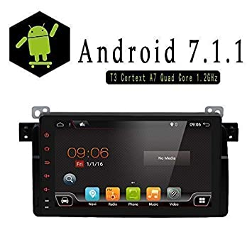 "9"" 1024 x 600 Android 7.1 Quad Core coche GPS Soporte de Bluetooth para BMW"