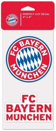 Two 4 x 4 Decals WinCraft FC Bayern Munchen Perfect Cut Die Cut Decal
