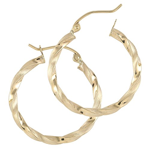 Balluccitoosi Hoop Earrings - 14k Yellow Gold Earring for Women and Girls - Unique Jewelry for Everyday by Ballucci&Toosi Goldsmith