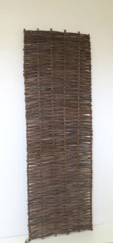 Willow Garden Furniture - Master Garden Products Horizontal Willow Hurdle Panel, 2 by 6-Feet
