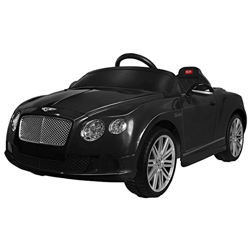costzon bentley gtc licensed 12v electric kids ride on car mp3 rc remote control black little kid cars