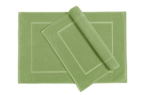 Welhome Cotton Set of 2 Bath Mats; 20 X 30 Inch, Soft and Absorbent Sage
