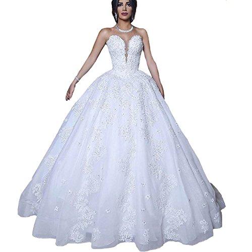 Amazon.com: Yuxin Princess Ball Gown Wedding Dresses for Bride 2019 ...