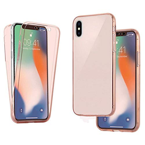 Price comparison product image New iPhone XS Max Case (2018),  Buybuybuy Clear 360° Protective Front & Back TPU Gel Case Cover For Apple iPhone XS Max 6.5inch (Rose Gold)