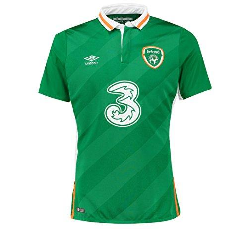 Umbro 2016-2017 Ireland Home Football Soccer T-Shirt Jersey