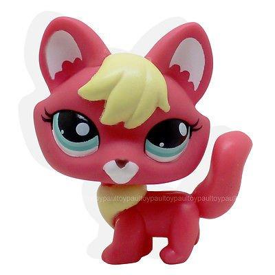 [LHJ #2642 Rare Littlest Pet Shop Firefox fox Blue eyes Dog Lps Animal TOY] (Llama Costume Ebay)