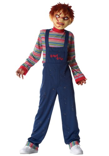 [Chucky Costume - Large/X-Large] (Halloween Costumes Scary Doll)