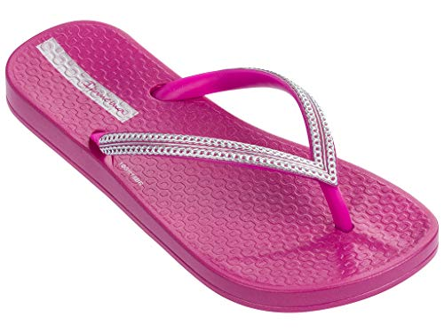 Ipanema Ana Metallic III Girls' Flip Flops, Pink/Silver (1 US) -