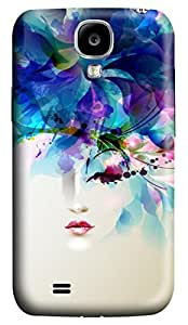 Brian114 Samsung Galaxy S4 Case, S4 Case - 3D Print Pattern Hard Cover for Samsung Galaxy S4 I9500 Chic One Eye Girl Extremely Protective Case for Samsung Galaxy S4 I9500
