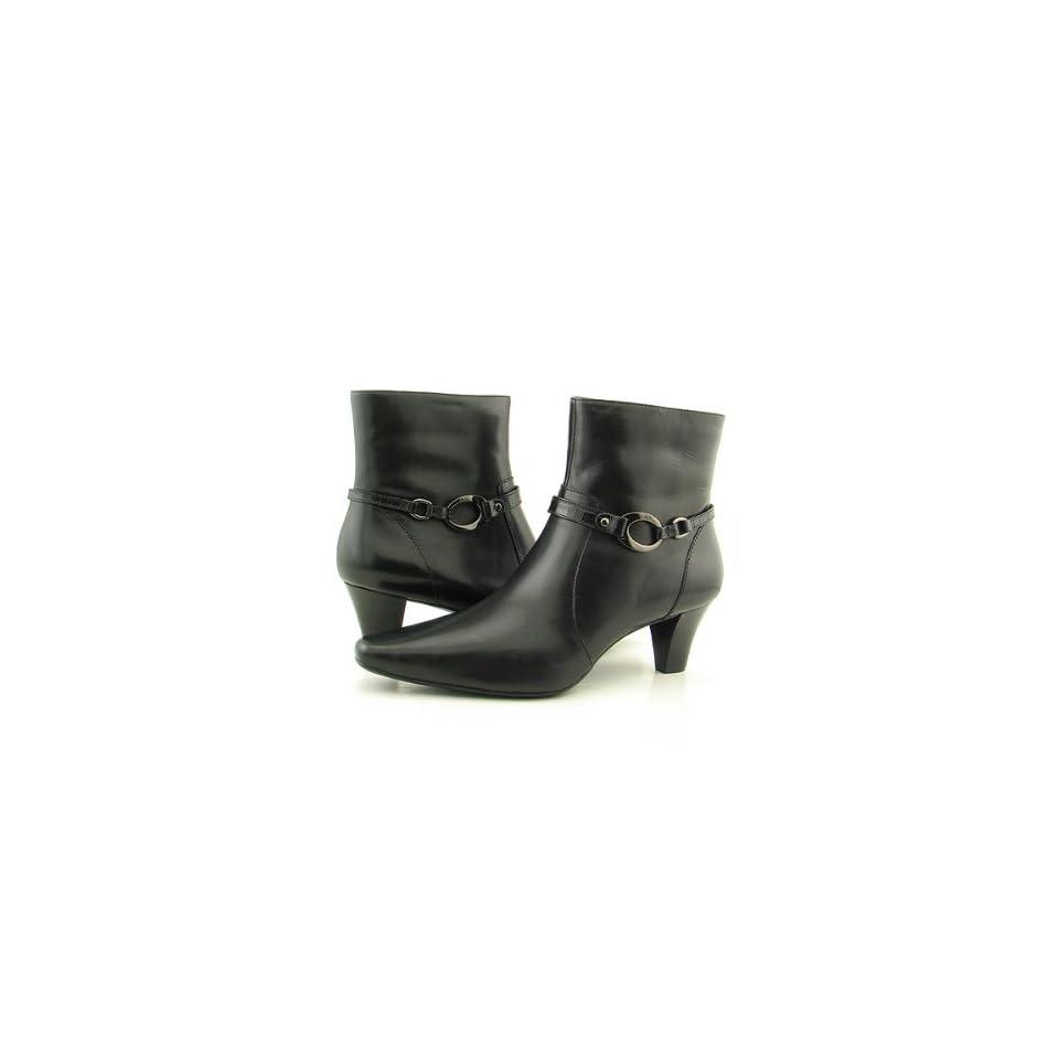ANNE KLEIN AK Gambler Black Boots Shoes Womens Size 10