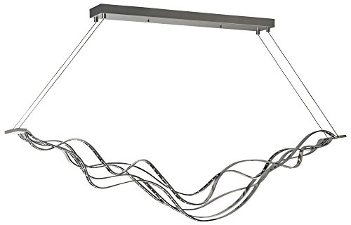 Tech Lighting 700LSSURGS-LED Surge Linear Suspension, 120V 3000K LED, 54 Inches Long, ELV Dimmable
