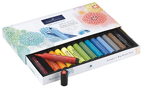 Faber Castell Pitt Artist Brush (Faber-Castell Stamper's Big Brush Pen Gift Set - 15 Big Brush PITT Artist Pens)