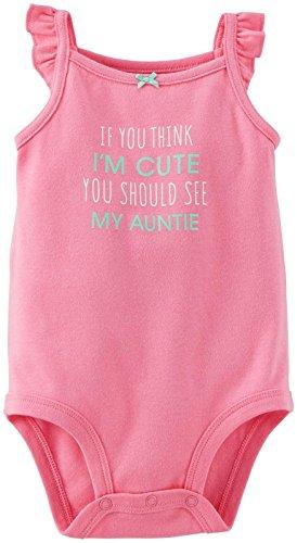 Carter's Baby Girls' Slogan Bodysuit (Baby) - Pink - 12 Months
