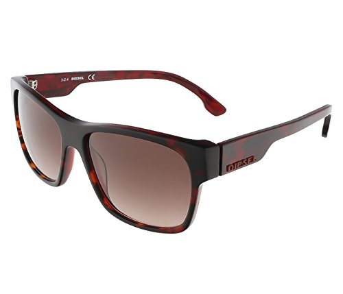 Diesel DL00125756F Wayfarer Sunglasses,Brown,57 - Diesel Glasses Sun