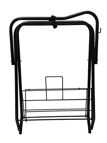 Horse Saddle Rack Stand Folding Storage Metal Black Saddle Tack Stable by AJ Tack Wholesale (Image #2)