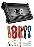 LANZAR HTG157 3000W Mono MOSFET Car Audio Power Amplifier + 8 GA Amp Kit Intall
