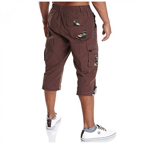 BEZLIT - Pantalón corto - cargo - Cuadrados - para hombre marrón
