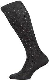 Chaussettes fantaisie lisle coton pindot sur le mollet (63611)
