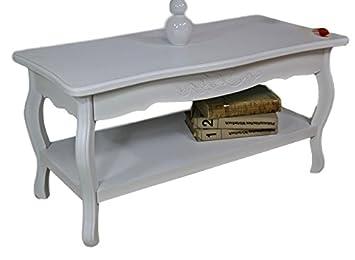 Elbmöbel Tisch Couchtisch Beistelltisch B88xH44xT42 B60xH46xT60 In Weiß  Rund Hoch Antik Barock Aus Holz Landhaus Cottage