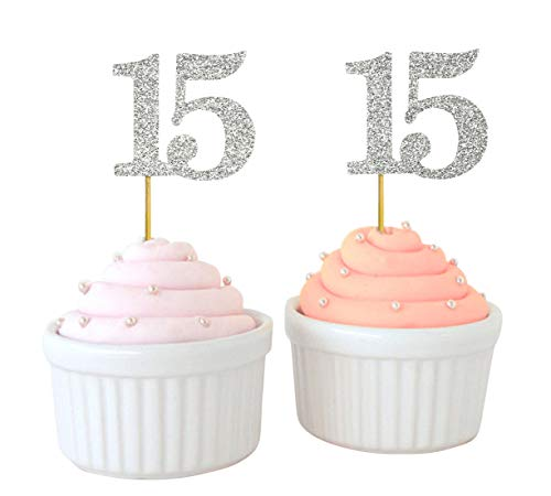 Darling Souvenir, Quinceanera 15th Birthday Cupcake Toppers, Dessert