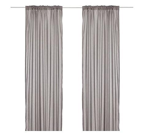 Ikea Thin Curtains, 1 Pair, Gray