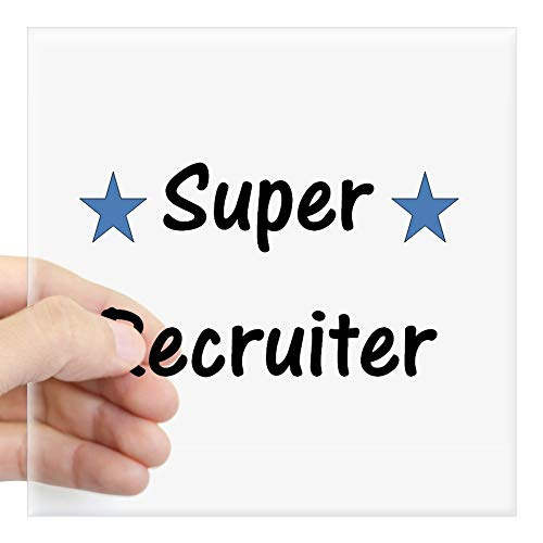 CafePress Super Recruiter Square Sticker 3 X 3 Square Bumper Sticker Car Decal, 3