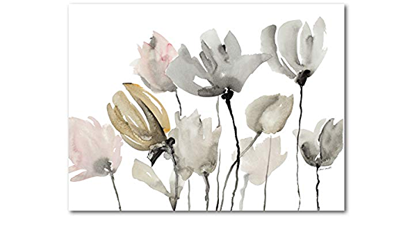Amazon Com Courtside Market Gray Tulips 16 X20 Gallery Wrapped Canvas Wall Art Flowers Nature White Green Tan 16x20 Multi Color Posters Prints