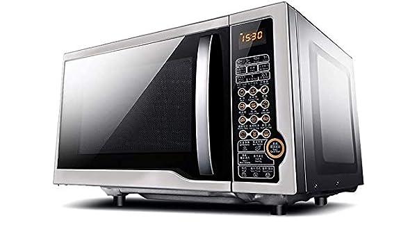 Rindasr Encimera de microondas, horno de microondas integrado, de 23 litros de capacidad, pantalla plana de calefacción, menú de funciones, un solo botón cocinar, 24H Anticipada Reserva microondas peq: Amazon.es: Hogar