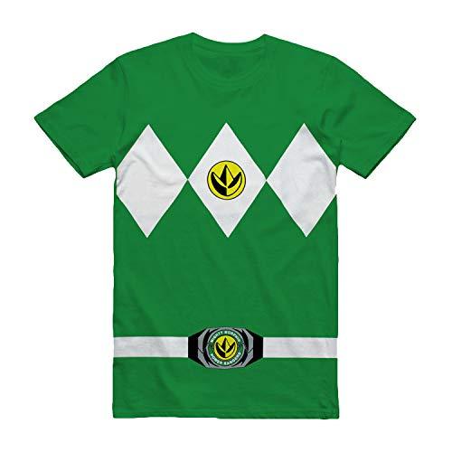 The Power Rangers Green Rangers Costume Adult T-shirt Tee, Green, Medium