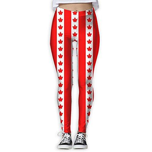 KLYUJIA Yoga Pants, Women's Power Flex Canadian Flag Yoga Pa