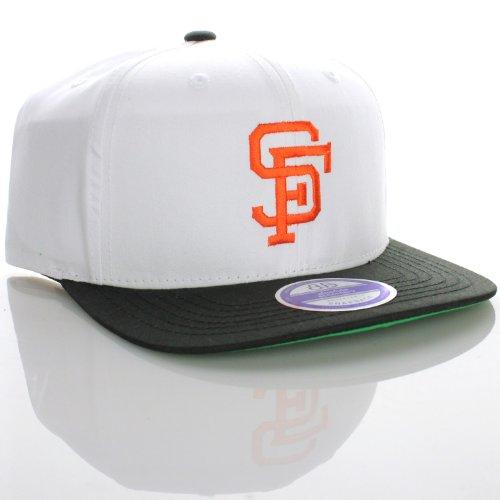 San Francisco Giants Flat Visor Logo Style Snapback Hat Cap White Black