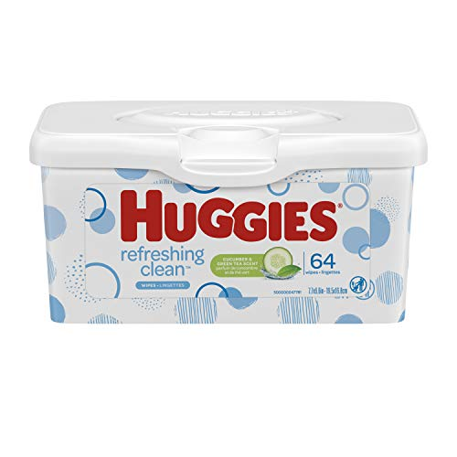 HUGGIES Refreshing Clean Baby Wipes, 1 Refillable Pop-up Tub
