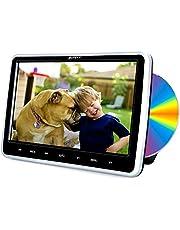 """Pumpkin Reproductor DVD Coche - 10.1"""" HD LCD Reproductor con Unidad Óptica de Succión, con Mando a Distancia, Soporta Tarjeta SD/USB/CD/DVD/AV-IN/out Región Libre"""