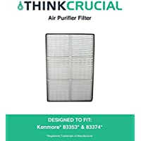 New HEPA Air Purifier Filter Designed To Fit Kenmore Air Purifier Models 83353 and 83374, Compare To Kenmore Part # 32-83374, 83353, 83374, 83234, Designed & Engineered By Crucial Air