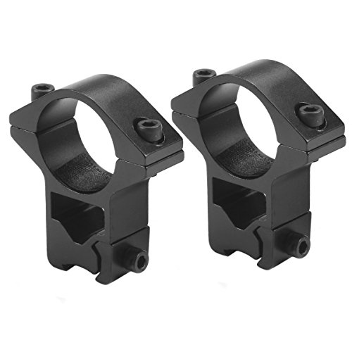 Mizugiwa 1 Inch, High Profile, 11mm Dovetail, See-Thru, Scope Mount Rings (22 Air Rifle Rings)