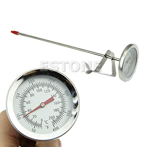 Besttse - Termómetro de acero inoxidable para horno y barbacoa ...
