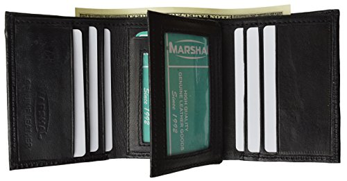 Leather Wallet Classic Trifold Marshal