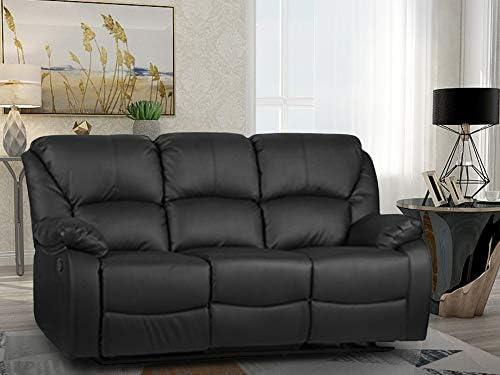 Amazon.com: Harper & Bright Designs Recliner Sofa (3-Seat ...
