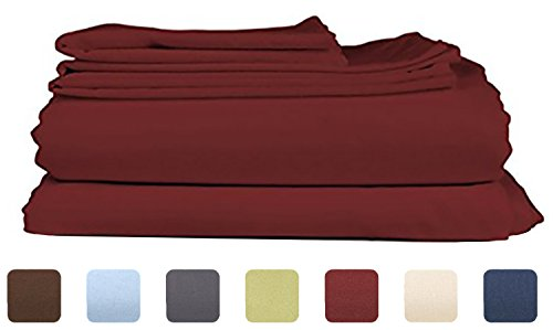 King Size Sheet Set - 6 Piece Set - Hotel Luxury Bed Sheets - Extra Soft - Deep (King Cal Flannel Sheets)