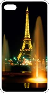 Eiffel Tower Shines Bright At Night Clear Plastic Case for Apple iPhone 4 or iPhone 4s