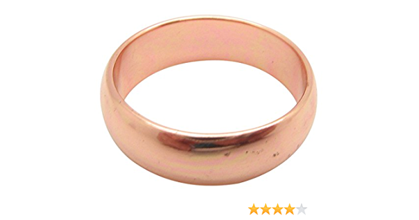 11 mm wide Titled Parted Copper Satin finish RING Handmade comfortable fit Size 7 34 Relief of Arthritis pain COPPER HAMMERED