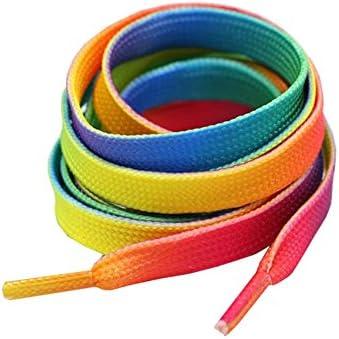 ファッショングラデーションカラフルなレインボー運動靴紐ロープ
