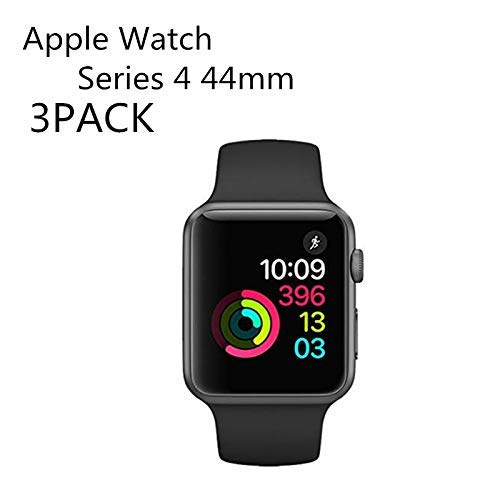 [3PACK] Apple Watch Series 4 44mm Tempered Glass Screen Protector, EcoPestuGo - 9H Hardness,Anti-Fingerprint,Anti-Scratch,Ultra-Clear,Bubble Free Screen Protector Compatible Apple Watch Series 4 44mm