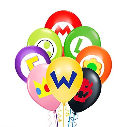 Super Mario Balloons (Merchant Medley 24pc Super Mario-Inspired Balloons - Large 12