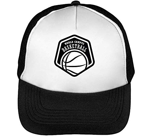 Beisbol Snapback Hombre Blanco Basketball Badge World Sport Gorras Champs Negro X4B0YqXxwS