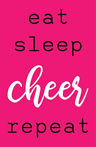 Damdekoli Eat Sleep Cheer Poster, Cheerleader Artwork, 11x17 Inches, Girls Room Wall Art Print, Gymnastics ()