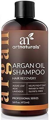 ArtNaturals Argan Hair Growth Shampoo - (16 Fl Oz / 473ml) - Sulfate Free - Treatment for Hair Loss, Thinning & Regrowth - Men & Women - Infused with Biotin, Argan Oil, Keratin, Caffeine