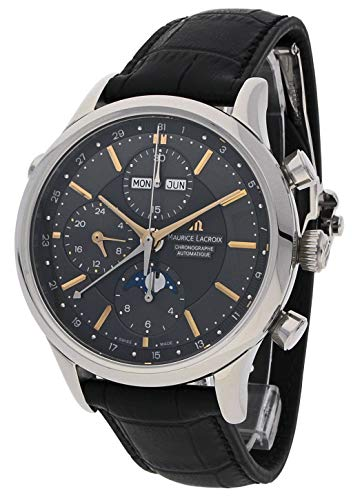 Maurice Lacroix Les Classiques Chronographe Phases de Lune Men's Black Dial Automatic Swiss Made Watch LC6078-SS001-331
